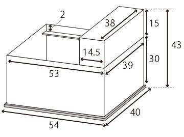 ウールボックス寸法